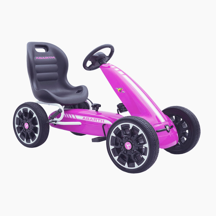 kids abarth ride on pedal go kart pedal powered ride on pink 4 licensed scorpion white