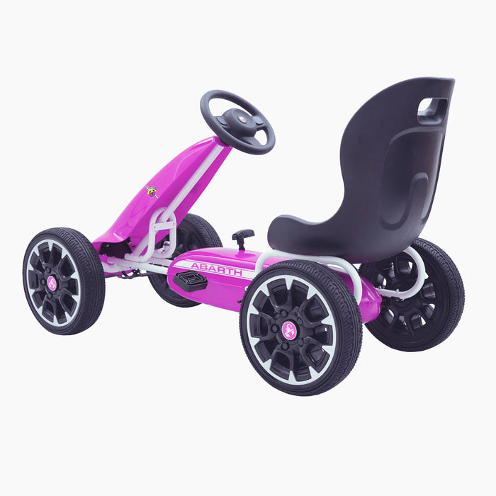 kids abarth ride on pedal go kart pedal powered ride on pink 5 licensed scorpion black