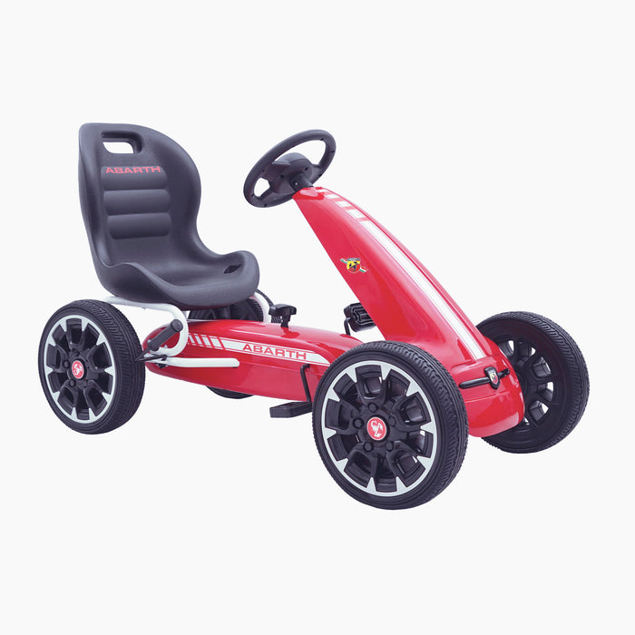 kids abarth ride on pedal go kart pedal powered ride on red 4 licensed scorpion