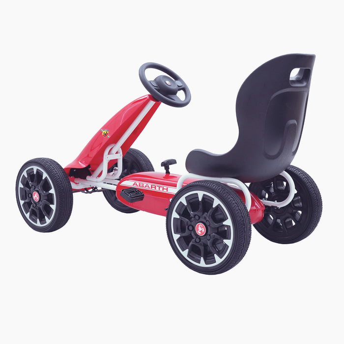 kids abarth ride on pedal go kart pedal powered ride on red 5 licensed scorpion