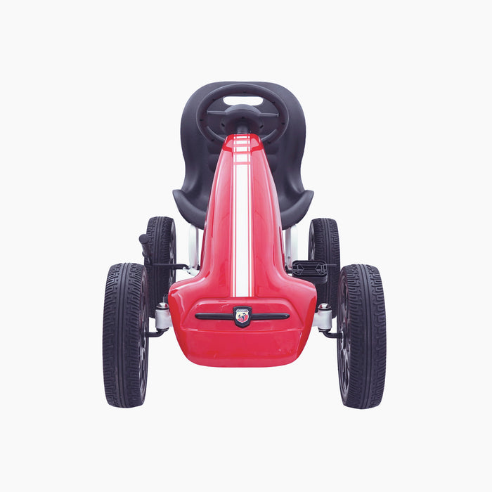 kids abarth ride on pedal go kart pedal powered ride on red 6 licensed scorpion