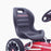 kids abarth ride on pedal go kart pedal powered ride on seat licensed scorpion pink