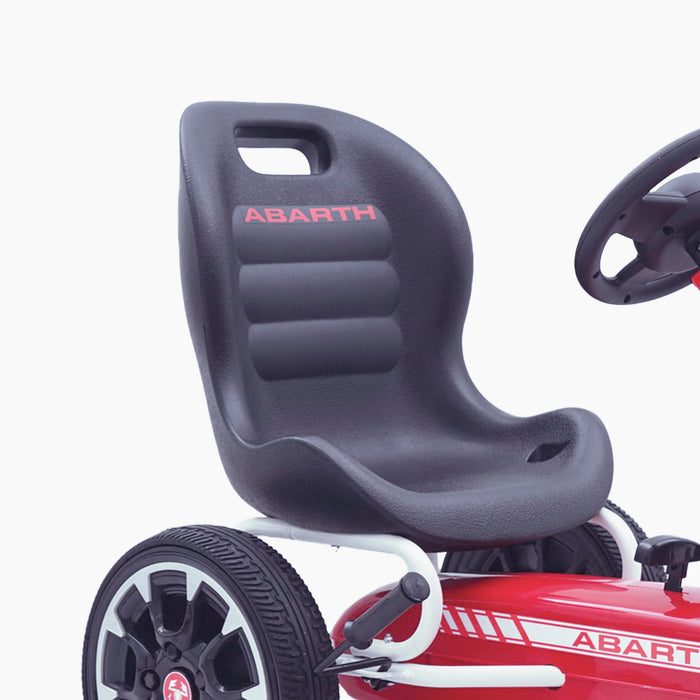 kids abarth ride on pedal go kart pedal powered ride on seat licensed scorpion black