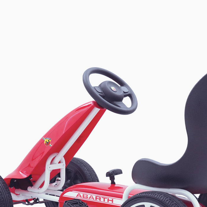 kids abarth ride on pedal go kart pedal powered ride on steering licensed scorpion red