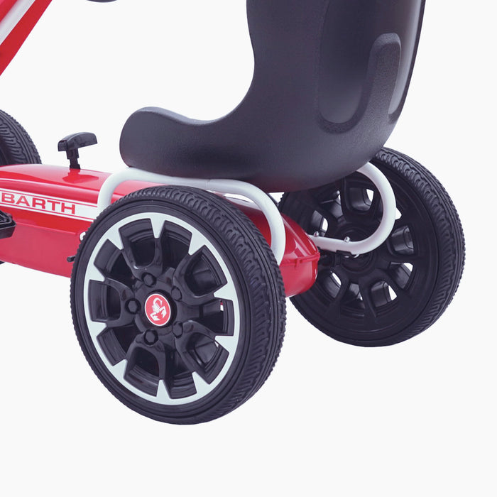 kids abarth ride on pedal go kart pedal powered ride on wheels licensed scorpion red