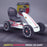 kids abarth ride on pedal go kart pedal powered ride on white 2 scorpion