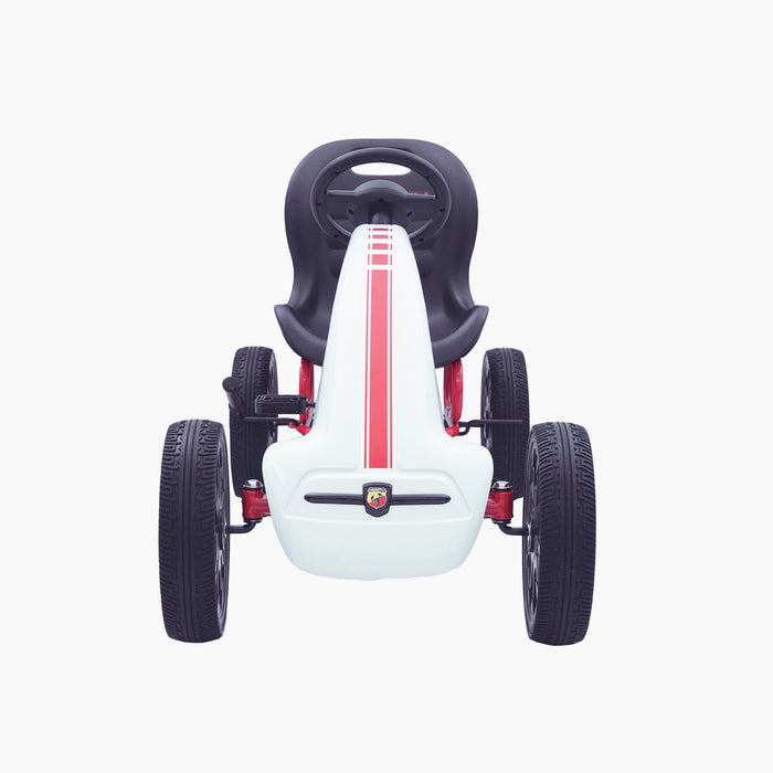 kids abarth ride on pedal go kart pedal powered ride on white 6 licensed scorpion red