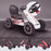 kids abarth ride on pedal go kart pedal powered ride on white licensed scorpion pink