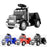 kids american truck electric ride on truck with usb port black Black 6v