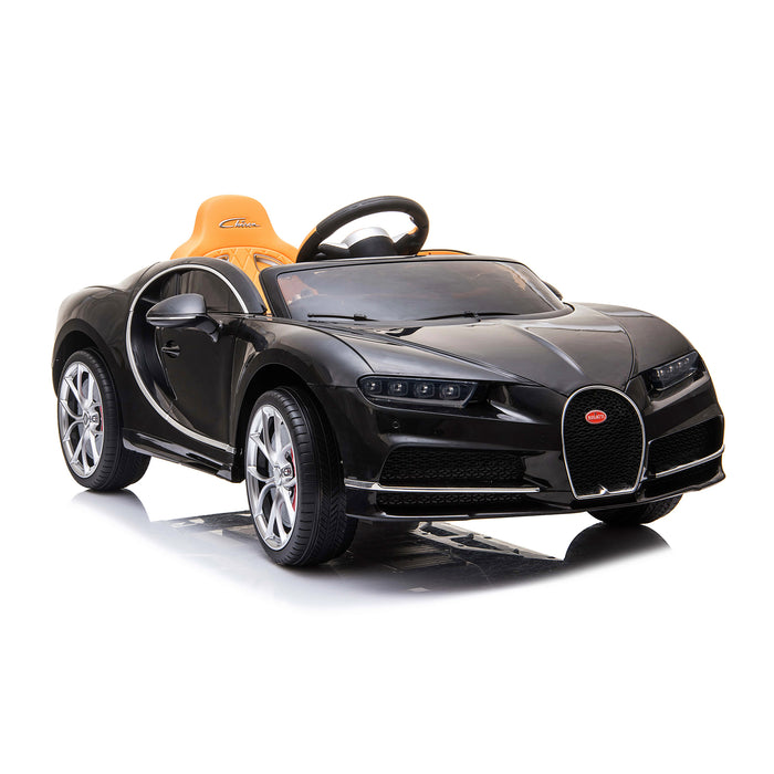 kids bugatti chiron licensed electric ride on car black 1 buggati 12v 2wd blue white