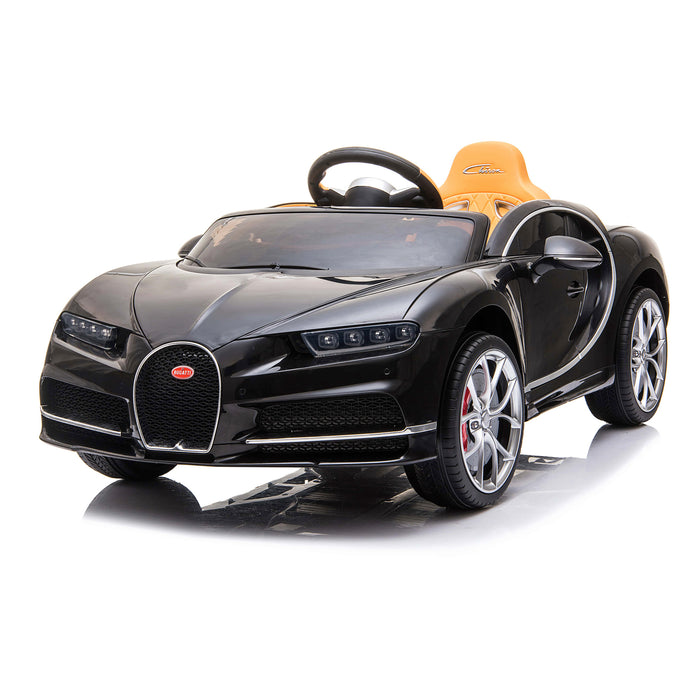 kids bugatti chiron licensed electric ride on car black 2 buggati 12v 2wd blue white