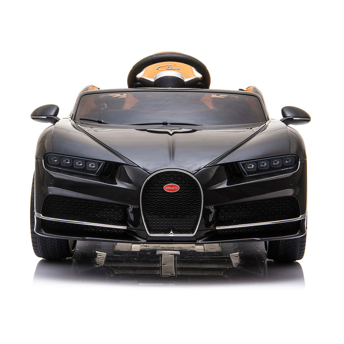 kids bugatti chiron licensed electric ride on car black 3 buggati 12v 2wd blue white