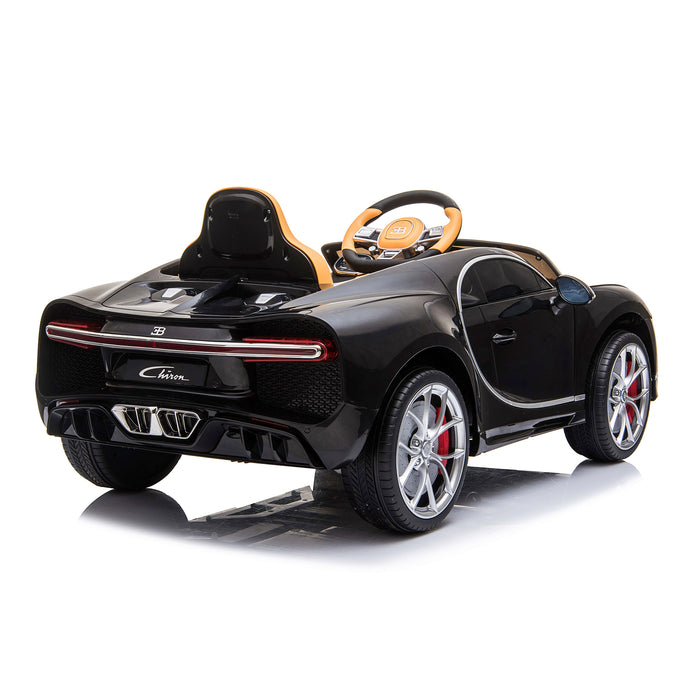 kids bugatti chiron licensed electric ride on car black 4 buggati 12v 2wd blue white