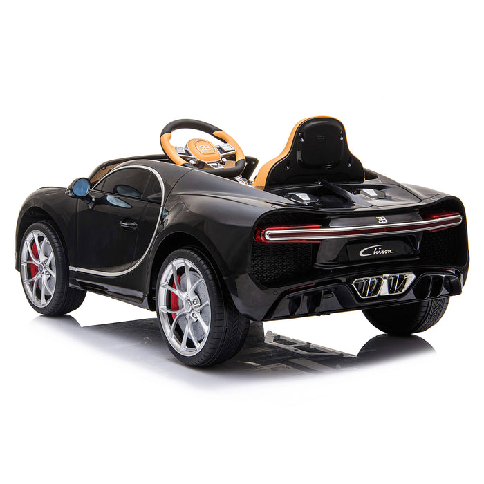 kids bugatti chiron licensed electric ride on car black 6 buggati 12v 2wd blue white