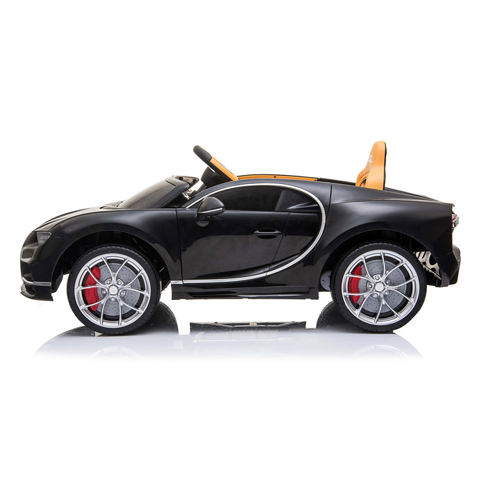 kids bugatti chiron licensed electric ride on car black 7 buggati 12v 2wd