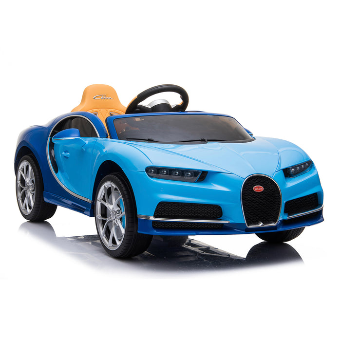 kids bugatti chiron licensed electric ride on car blue 1 buggati 12v 2wd white
