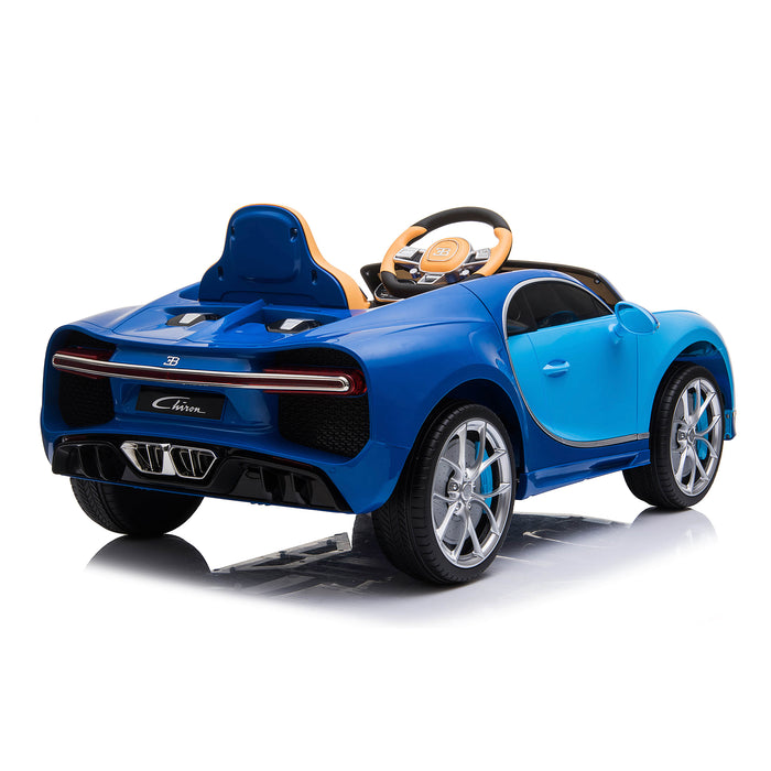 kids bugatti chiron licensed electric ride on car blue 2 buggati 12v 2wd black