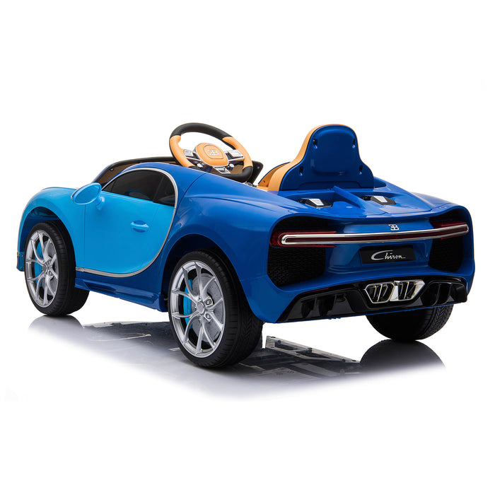 kids bugatti chiron licensed electric ride on car blue 3 buggati 12v 2wd white