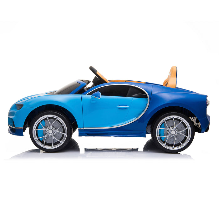 kids bugatti chiron licensed electric ride on car blue 4 buggati 12v 2wd white