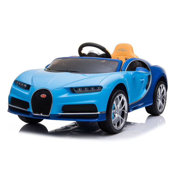 kids bugatti chiron licensed electric ride on car blue 5 buggati 12v 2wd white