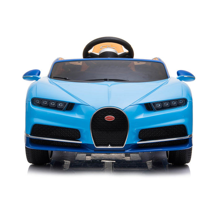 kids bugatti chiron licensed electric ride on car blue 6 buggati 12v 2wd black