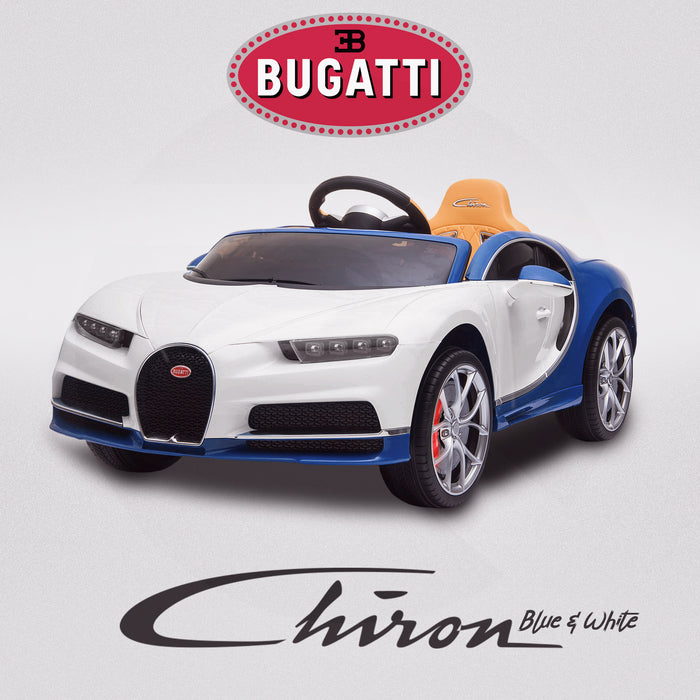 kids bugatti chiron licensed electric ride on car blue white buggati 12v 2wd black