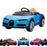 kids bugatti chiron licensed electric ride on car blue buggati 12v 2wd black