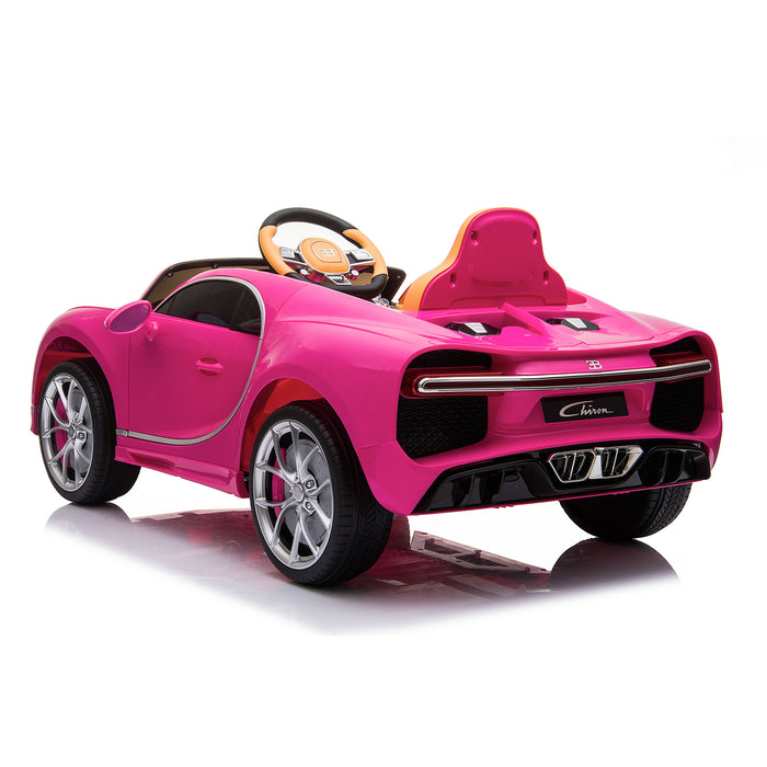 kids bugatti chiron licensed electric ride on car pink 1 buggati 12v 2wd blue white