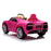 kids bugatti chiron licensed electric ride on car pink 1 buggati 12v 2wd black