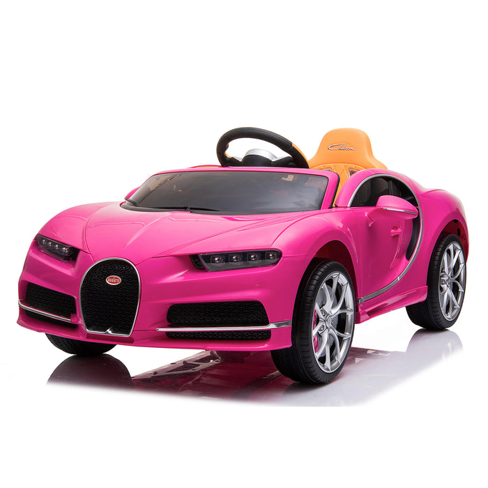 kids bugatti chiron licensed electric ride on car pink 3 buggati 12v 2wd