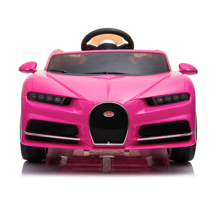 kids bugatti chiron licensed electric ride on car pink 4 buggati 12v 2wd blue white