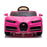 kids bugatti chiron licensed electric ride on car pink 4 buggati 12v 2wd black