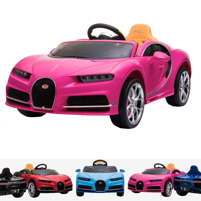kids bugatti chiron licensed electric ride on car pink buggati 12v 2wd blue white
