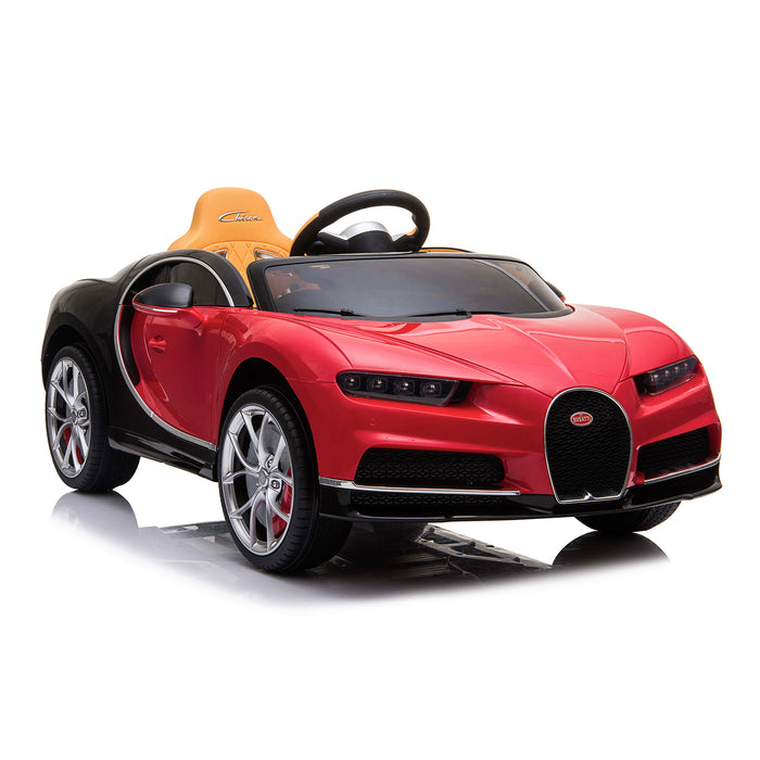 kids bugatti chiron licensed electric ride on car red 1 buggati 12v 2wd blue white
