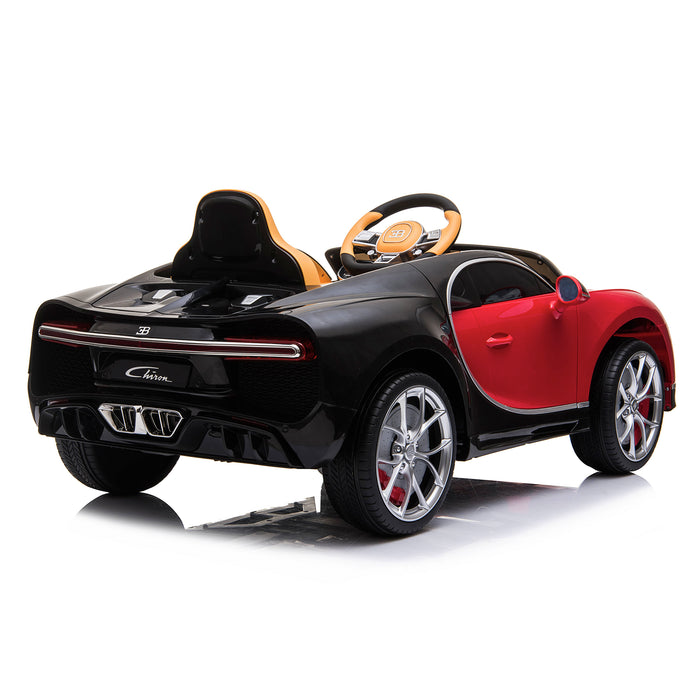 kids bugatti chiron licensed electric ride on car red 2 buggati 12v 2wd black