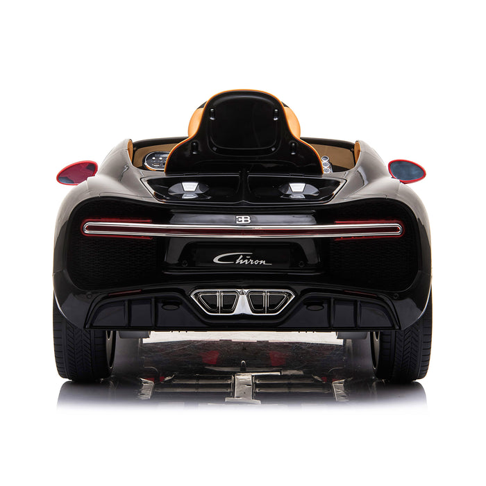 kids bugatti chiron licensed electric ride on car red 3 buggati 12v 2wd black