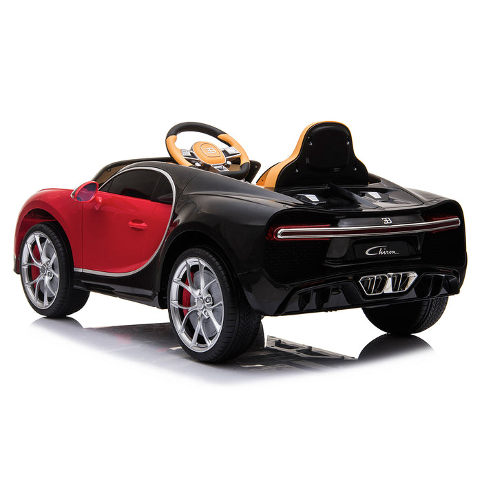 kids bugatti chiron licensed electric ride on car red 4 buggati 12v 2wd pink