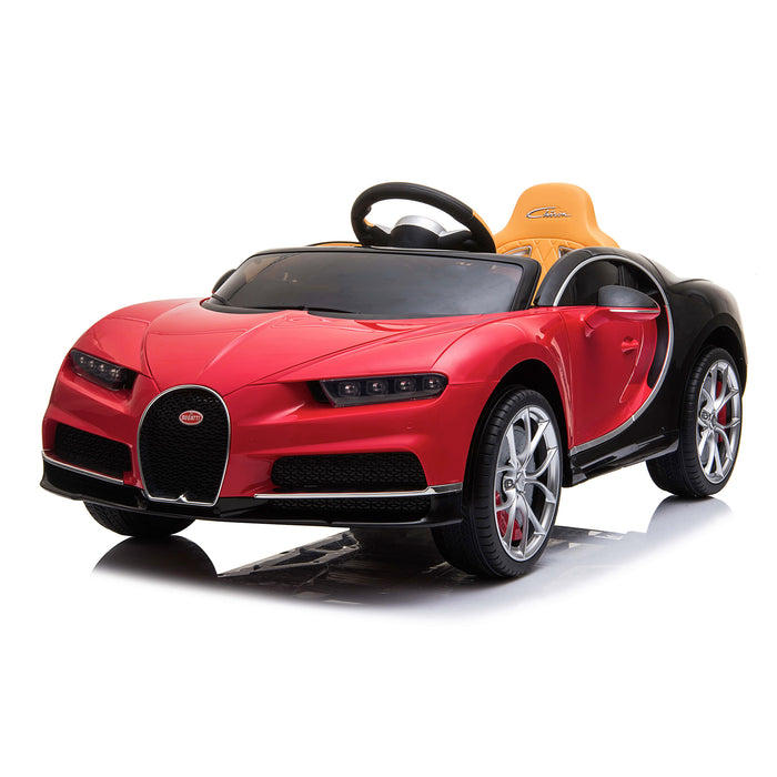 kids bugatti chiron licensed electric ride on car red 6 buggati 12v 2wd pink