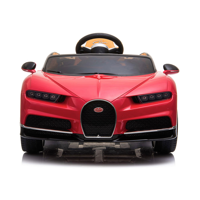 kids bugatti chiron licensed electric ride on car red 7 buggati 12v 2wd blue white