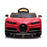kids bugatti chiron licensed electric ride on car red 7 buggati 12v 2wd black