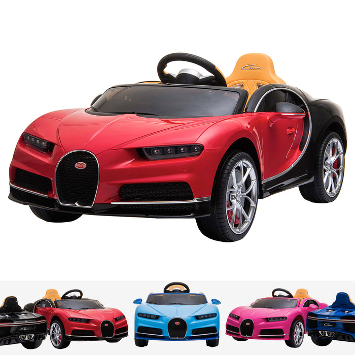 kids bugatti chiron licensed electric ride on car red buggati 12v 2wd blue white