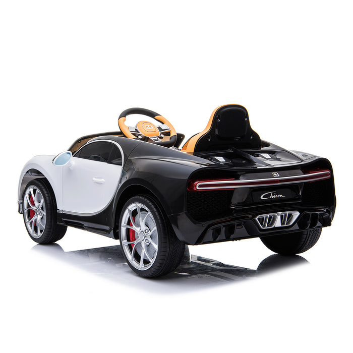 kids bugatti chiron licensed electric ride on car white 1 buggati 12v 2wd blue