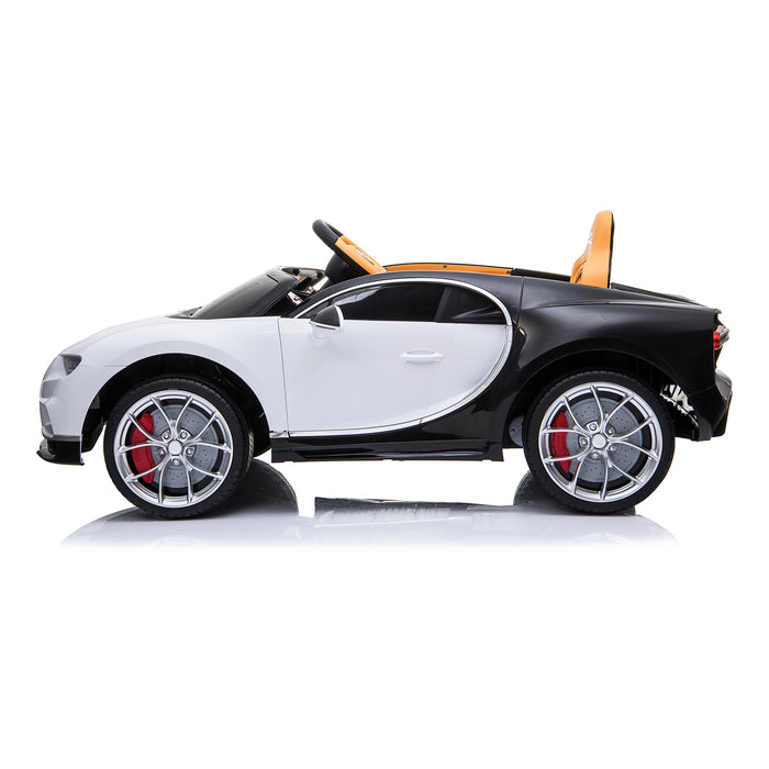 kids bugatti chiron licensed electric ride on car white 2 buggati 12v 2wd blue