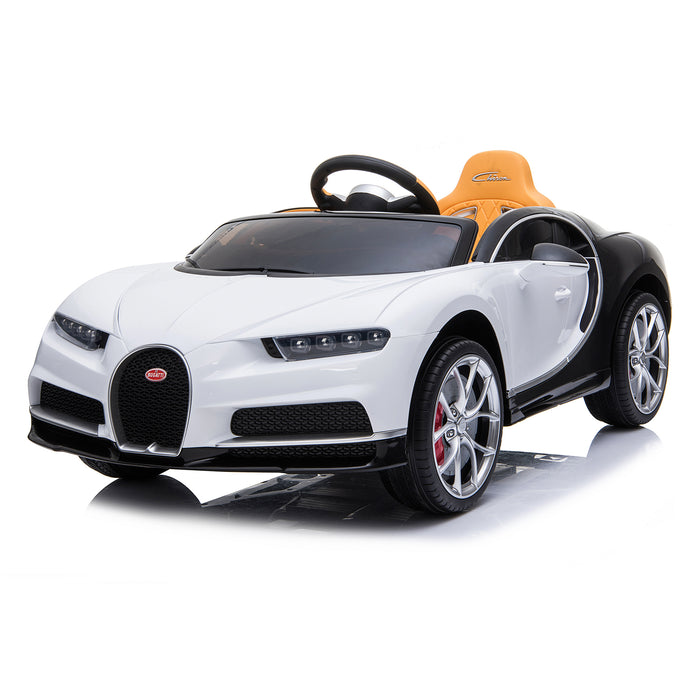 kids bugatti chiron licensed electric ride on car white 3 buggati 12v 2wd blue