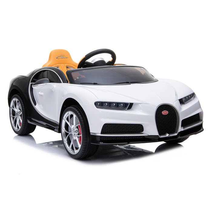 kids bugatti chiron licensed electric ride on car white 4 buggati 12v 2wd pink