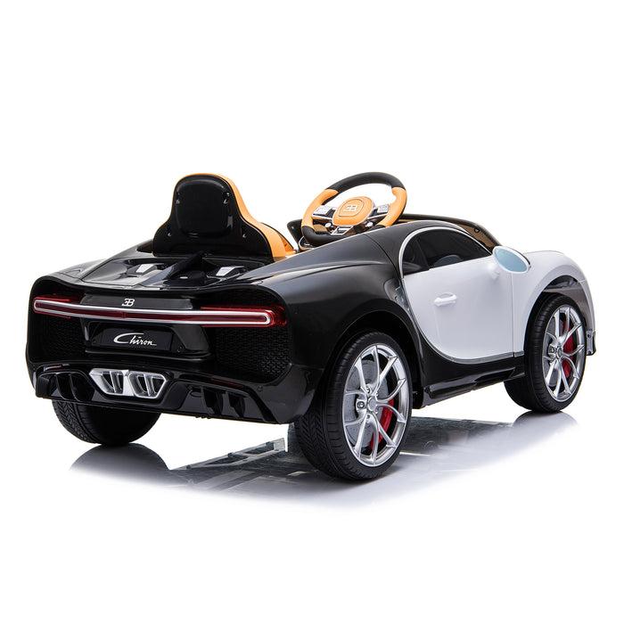 kids bugatti chiron licensed electric ride on car white 5 buggati 12v 2wd black