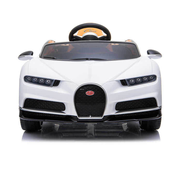 kids bugatti chiron licensed electric ride on car white 6 buggati 12v 2wd black