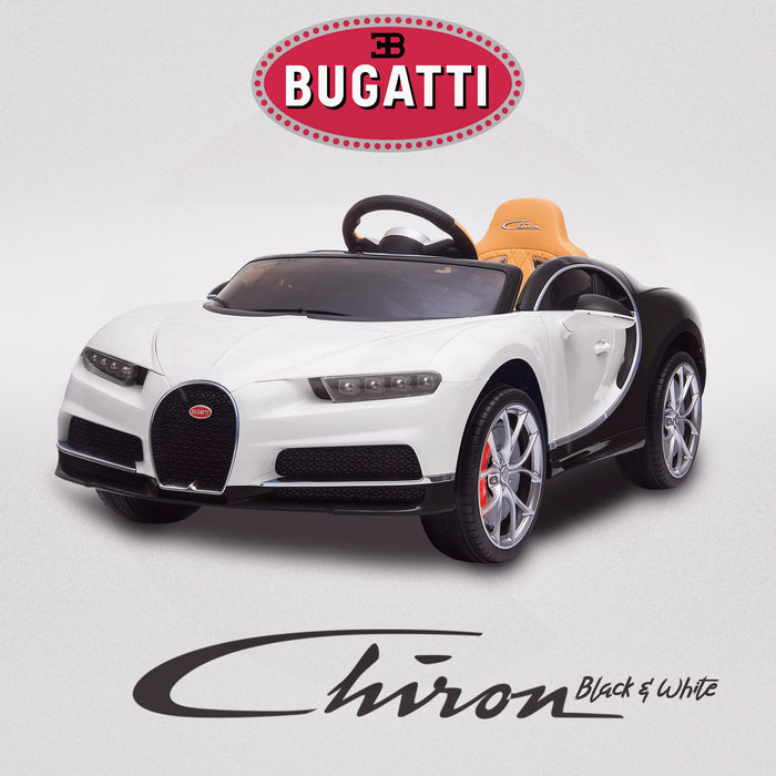 kids bugatti chiron licensed electric ride on car white black buggati 12v 2wd black