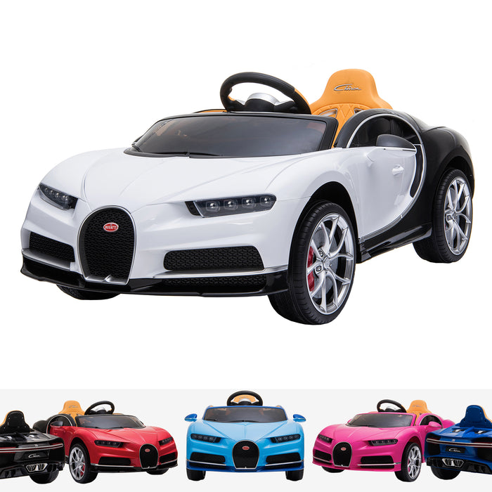 kids bugatti chiron licensed electric ride on car white buggati 12v 2wd blue white
