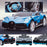 kids bugatti divo licensed ride on electric car supercar with parental remote control main blue Painted Blue 12v